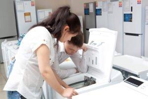 A máquina de lavar está pulando. O que fazer?